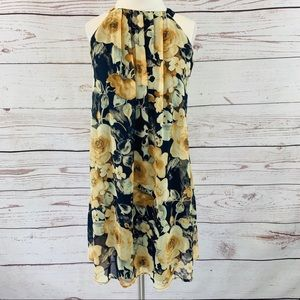 Altar'd State navy yellow gold watercolor floral
